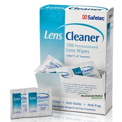 Buy Safetec Lens Cleaning Wipes (Streak-free) 100/Box by Safetec | SDVOSB - Mountainside Medical Equipment