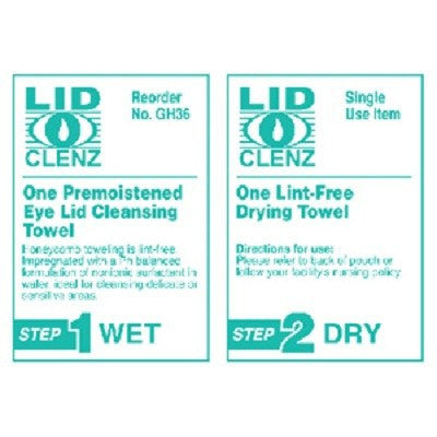 LidClenz Eye Lid Cleansing System 36/Box