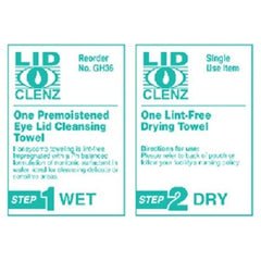 Buy LidClenz Eye Lid Cleansing System 36/Box by Rochester Drug online | Mountainside Medical Equipment