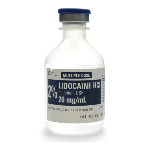 Lidocaine 2% for Injection 50mL - Local Anesthetic - Mountainside Medical Equipment