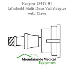 Lifeshield Multi Dose Vial Adapter with Clave Connector 50/Case for IV & Irrigation by Hospira | Medical Supplies