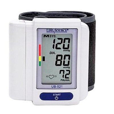Lifesource Digital Wrist Blood Pressure Monitor UB-521