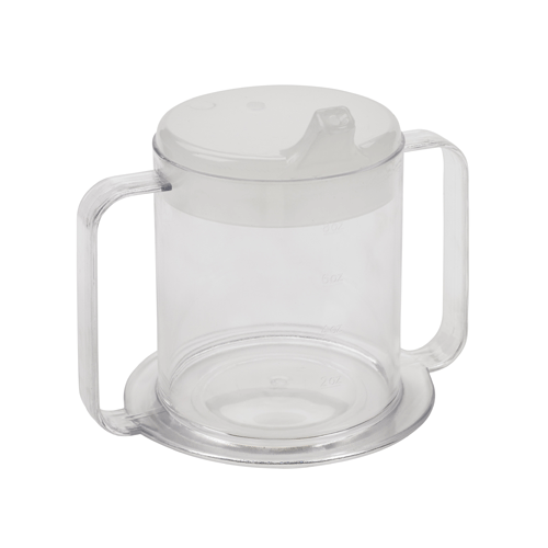 Lifestyle 2-Handle Drinking Cup 10 oz for Dining Aids by Drive Medical | Medical Supplies
