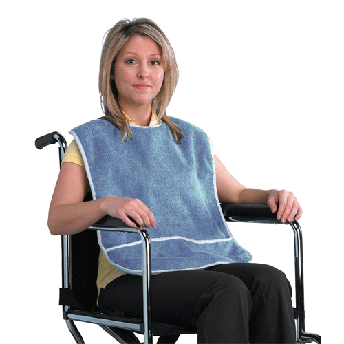 Buy Lifestyle Crumb Catcher Eating Bib by Drive Medical from a SDVOSB | Dining Aids