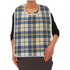 Buy Lifestyle Flannel Adult Feeding Bib by Drive Medical from a SDVOSB | Dining Aids