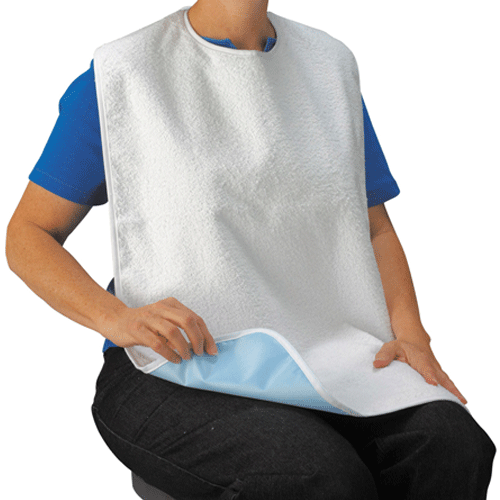 Buy (3-Pack) Lifestyle Terry Cloth Washable Dinning Bibs used for Adult Eating Bibs by Drive Medical