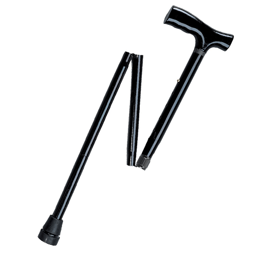 Lightweight Adjustable Folding Cane with T Handle - Canes - Mountainside Medical Equipment