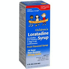 Buy Children's Loratadine Syrup 5 mg, Fruit Flavored Syrup by Taro from a SDVOSB | Allergy Relief