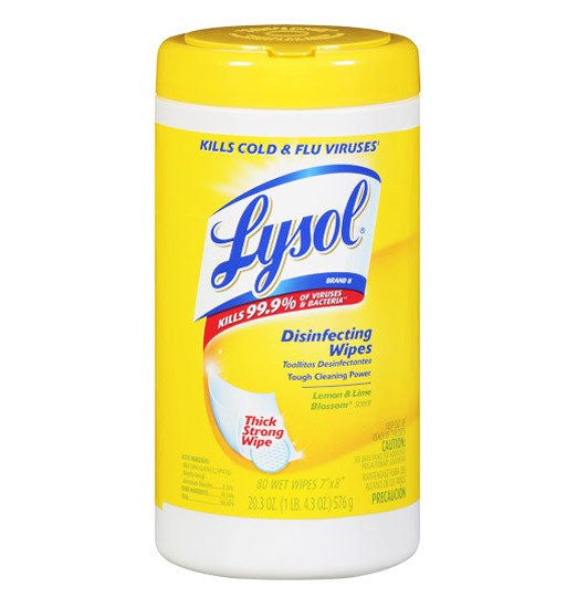 Lysol Wipes with Lemon Lime Blossom Scent, 80 each