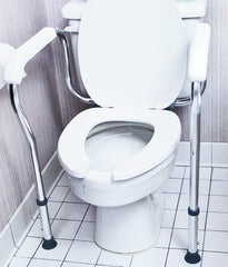 Buy Mabis Adjustable Toilet Safety Rail online used to treat Toilet Safety Frames - Medical Conditions