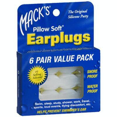 Adult Pillow Soft Ear Plugs, 6 Pair - Ear Plugs - Mountainside Medical Equipment