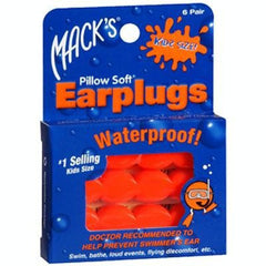 Buy Pillow Soft Waterproof Ear Plugs (Kids Size) by Macks products | SDVOSB - Mountainside Medical Equipment