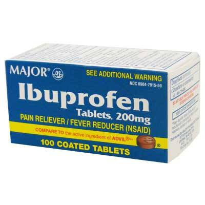 100 Ibuprofen Tablets 200 mg Pain Reliever/Fever Reducer - Pain Relievers - Mountainside Medical Equipment