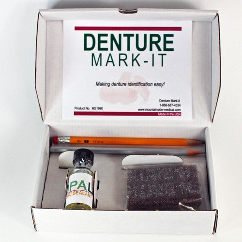 Denture Marking Kit (Identure Denture Marking System) - Denture Labeling Kit - Mountainside Medical Equipment