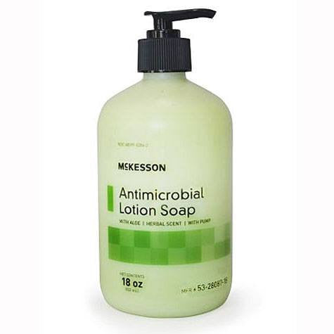 Buy McKesson Antimicrobial PCMX Moisturizing Soap with Aloe, Herbal Scent online used to treat Instant Hand Sanitizer - Medical Conditions