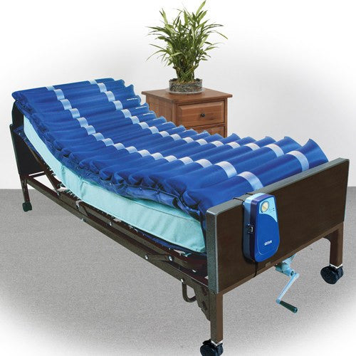 Med-Aire Alternating Pressure Mattress Overlay System with Low Air Loss for Mattresses by Drive Medical | Medical Supplies
