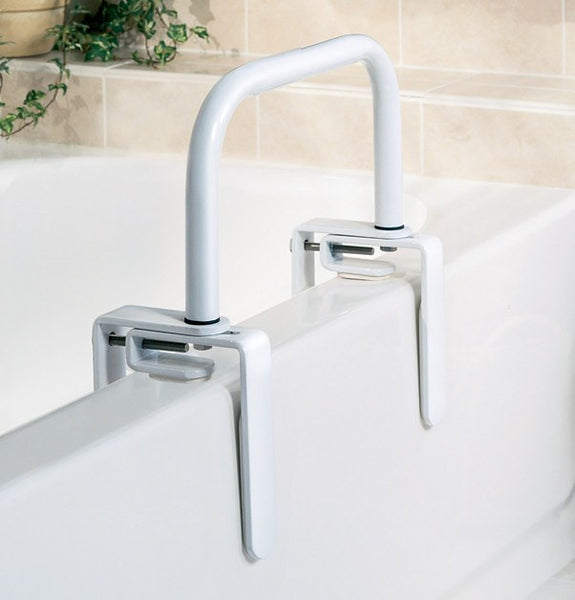 Safety Bathtub Rail, Clamps-On to Any Standard Tub
