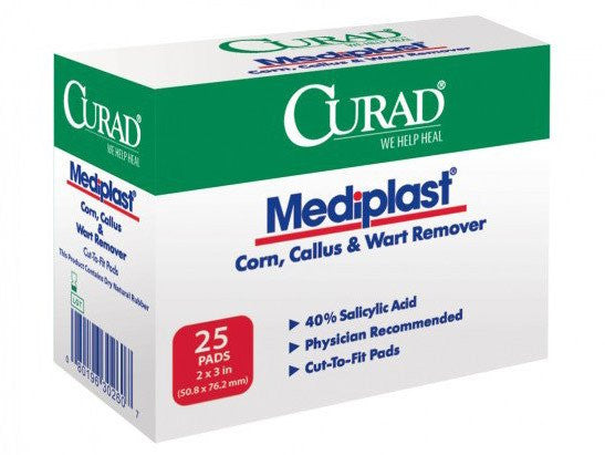 Buy Mediplast Corn Callus and Wart Remover by Curad | SDVOSB - Mountainside Medical Equipment