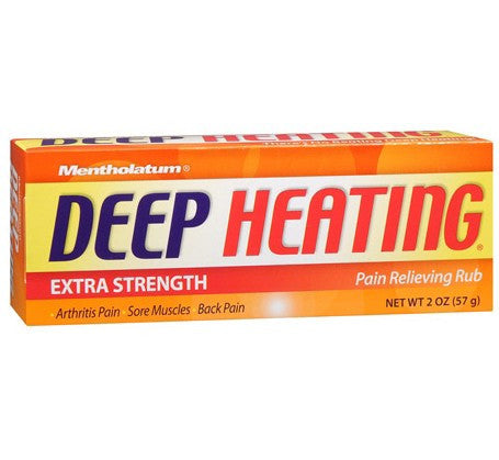 Mentholatum Deep Heating Pain Relief Muscle Rub, 2 oz