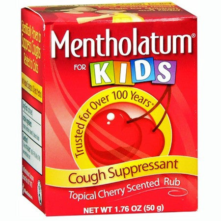 Mentholatum For Kids Topical Cherry Scented Rub 1.76 oz