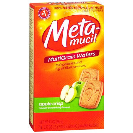 Metamucil Fiber Multigrain Wafers Apple Crisp Flavor