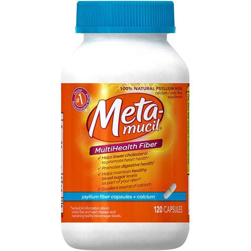 Metamucil MultiHealth Fiber Plus Calcium Capsules, 120ct
