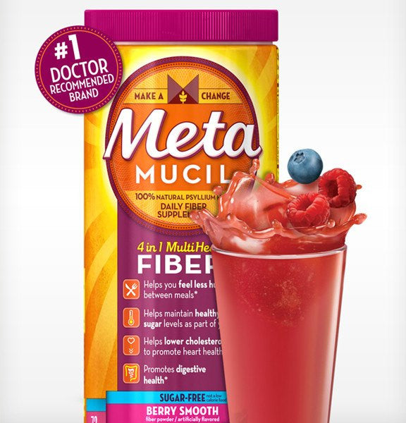 Buy Metamucil Sugar Free MultiHealth Fiber Powder, Berry Smooth online used to treat Vitamins, Minerals & Supplements - Medical Conditions