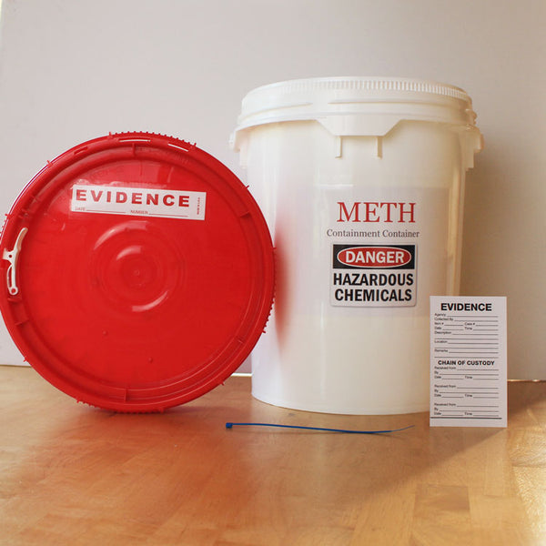 Meth Containment and Transport Container, 5 Gallon Bucket