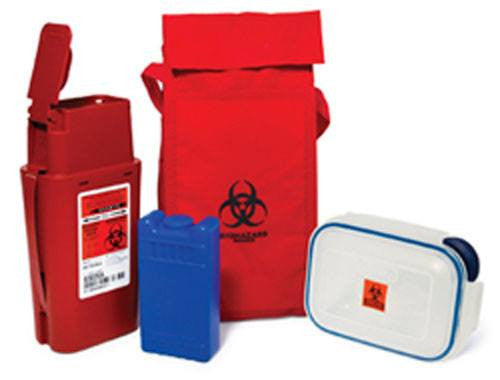 Mini Syringe and Sample Transport System - Sharps Containers - Mountainside Medical Equipment