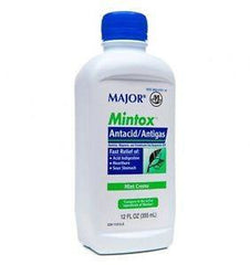 Buy Mintox Antacid Maximum Strength Liquid 12 oz by Major Pharmaceuticals from a SDVOSB | Heartburn