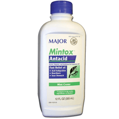 Buy Mintox Antacid Maximum Strength Liquid 12 oz online used to treat Heartburn Relief Medicine - Medical Conditions