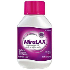 Buy MiraLax Polyethylene Glycol Laxative Powder 8.3 oz by Merck & Co online | Mountainside Medical Equipment