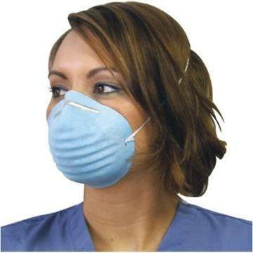 Dynarex Molded Blue Face Masks Respiratory Infection Germ Spread