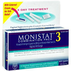 Buy Monistat 3 Combination Pack used for Antifungal Medications by Johnson & Johnson