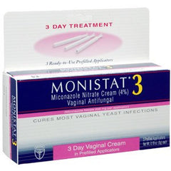 Monistat 3 Day Vaginal Cream Treatment for Antifungal Medications by Johnson & Johnson | Medical Supplies
