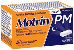 Buy Motrin PM Nighttime Sleep-Aid Pain Reliever Caplets 20ct by DOT Unilever online | Mountainside Medical Equipment