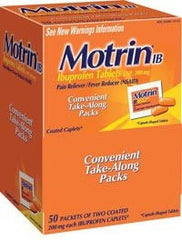 Motrin Ibuprofen 200 mg Unit Dose Tablets (50 x 2 Packs) for Pain Relievers by Johnson & Johnson | Medical Supplies