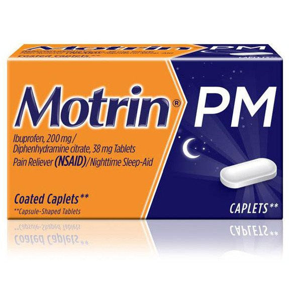 Buy Motrin PM Nighttime Sleep-Aid Pain Reliever Caplets 20ct used for Pain Relievers by DOT Unilever