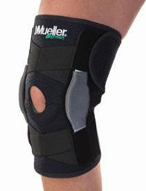 Buy Mueller Adjustable Hinged Knee Brace Black online used to treat Knee Braces - Medical Conditions