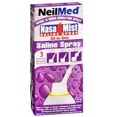 Nasamist All-in-1 Saline Spray 6 oz for Cold Medicine by NeilMed Pharmaceuticals | Medical Supplies