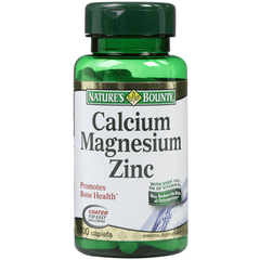 Buy Nature's Bounty Calcium Magnesium Zinc 100 Tablets online used to treat Vitamins, Minerals & Supplements - Medical Conditions