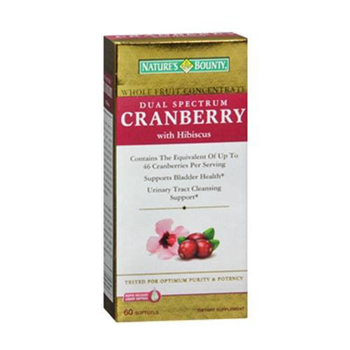Buy Nature's Bounty Dual Spectrum Cranberry with Hibiscus 60 Softgels online used to treat Urinary Tract Infection - Medical Conditions