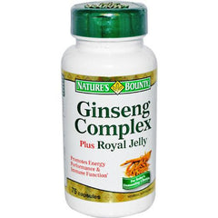 Buy Natures Bounty Ginseng Complex with Royal Jelly online used to treat Vitamins, Minerals & Supplements - Medical Conditions