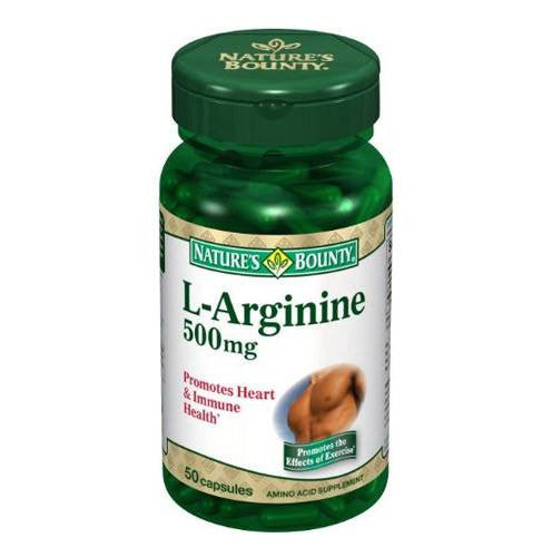 Buy Natures Bounty L-Arginine 500mg Capsules online used to treat Heart Health - Medical Conditions