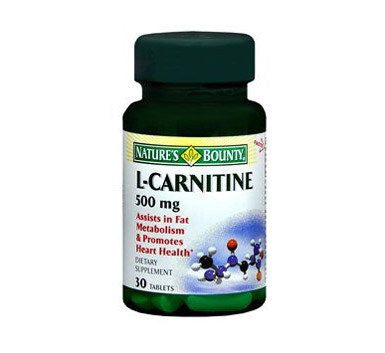 Natures Bounty L-Carnitine 500mg Tablets for Vitamins, Minerals & Supplements by Nature