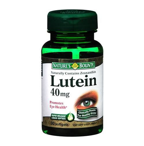 Natures Bounty Lutein 40mg Eye Health Antioxidant Supplement, 30 Softgels