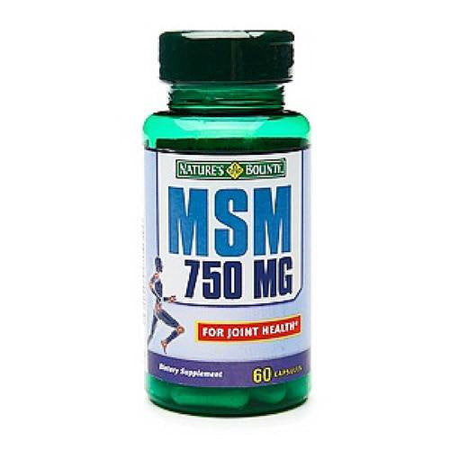 Buy Natures Bounty MSM 750mg Capsules by Nature