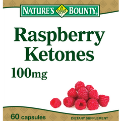 Nature's Bounty Raspberry Ketones, 100 mg, 60 Capsules for Diet and Nutrition by Nature's Bounty | Medical Supplies