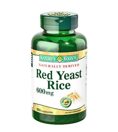 Natures Bounty Red Yeast Rice 600mg 120 Capsules