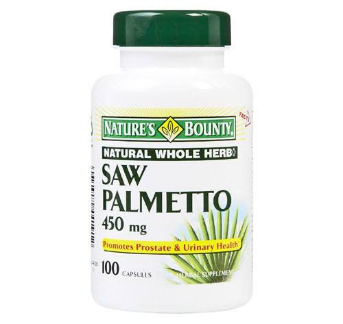 Natures Bounty Saw Palmetto 450mg for Drainage Bags and Leg Bags by Nature